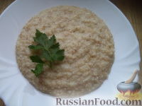 Фото к рецепту: Каша пшеничная с маслом