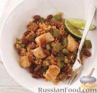 Фото к рецепту: Курица с фасолью и рисом