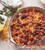 Фото к рецепту: Паста с мясом и фасолью