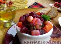 Фото к рецепту: Винегрет с запеченной свеклой