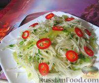 Фото к рецепту: Витаминный салат из кольраби