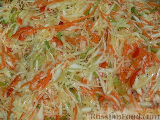 салат из капусты помидоры перец на зиму рецепты