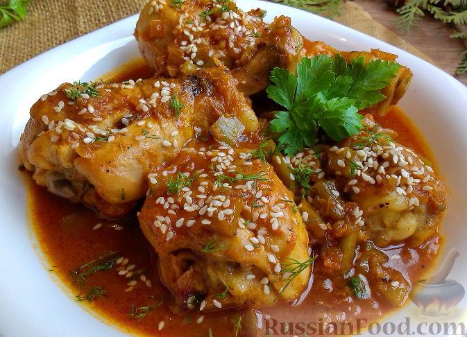 мед курицы Рецепт голени