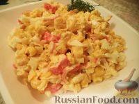 Фото к рецепту: Быстрый крабовый салат