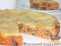 Фото к рецепту: Фасолевый пирог с шампиньонами и сыром