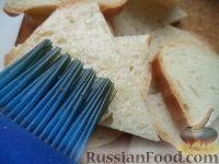 Фото приготовления рецепта: Гренки с чесноком - шаг №6