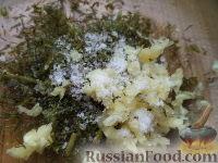 Фото приготовления рецепта: Гренки с чесноком - шаг №9