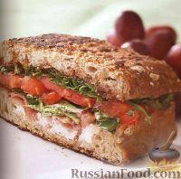 Фото к рецепту: Сэндвичи с ветчиной, помидорами и сыром