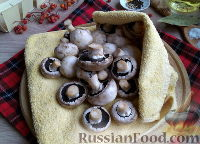 Фото приготовления рецепта: Быстрые маринованные грибы - шаг №2