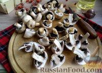 Фото приготовления рецепта: Быстрые маринованные грибы - шаг №3