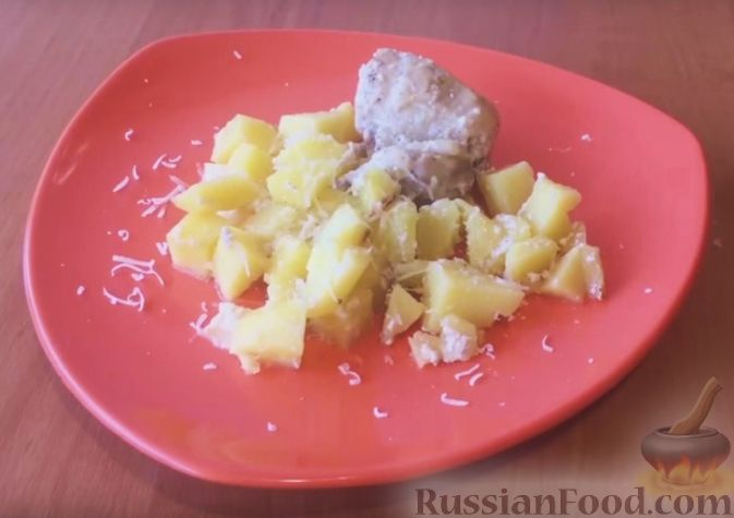 Картофель в сливках в мультиварке рецепт пошаговый с
