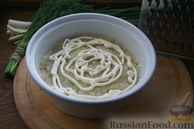 фото рецепт салата грибная полянка рецепт