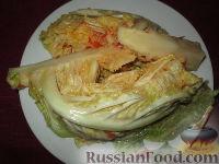 Фото к рецепту: Соленая савойская капуста в остром соусе