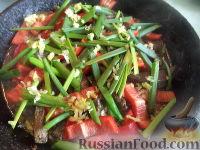 Фото приготовления рецепта: Поджарка из говяжьей печени - шаг №10