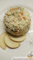 Фото к рецепту: Салат с рисом и курицей