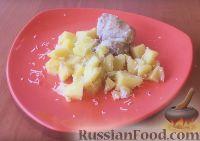 Фото к рецепту: Курица с картошкой, в сливках (в мультиварке)