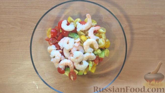 Салат креветки с авокадо рецепт