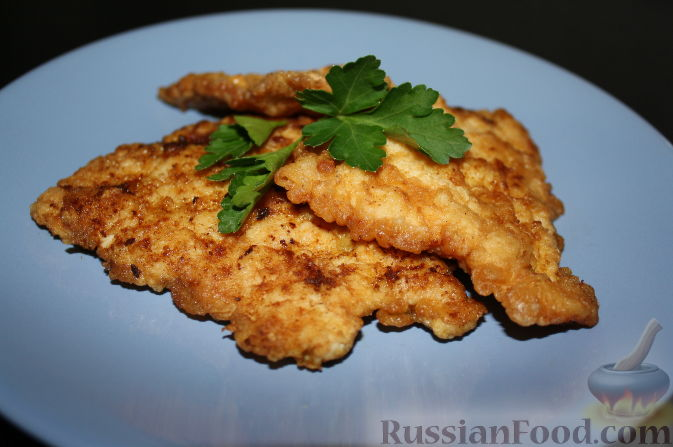 куриный шницель в панировке рецепт с фото