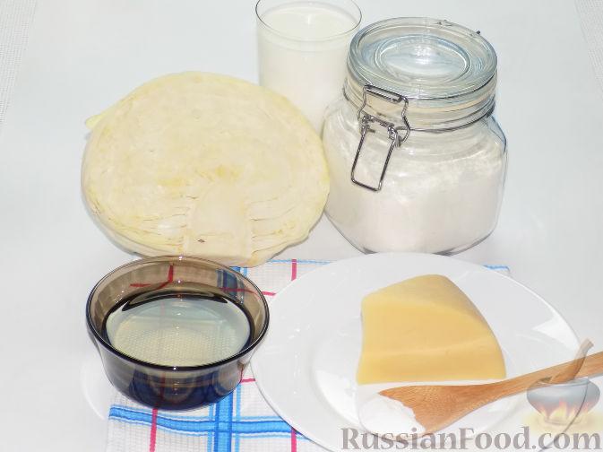 заливной пирог с капустой и луком на кефире рецепт с фото