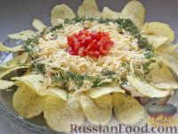 "Фото к рецепту: Острый салат ""Подсолнух"""