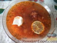 Фото к рецепту: Быстрая солянка с копченостями и картофелем