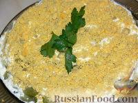"""Фото к рецепту: Салат слоёный """"Печёнкин"""""""