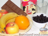 Фото приготовления рецепта: Фруктовый салат с шоколадом и взбитыми сливками - шаг №1