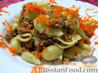 Фото к рецепту: Макароны по-флотски в одной сковороде