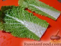 Фото приготовления рецепта: Голубцы из китайской капусты - шаг №2