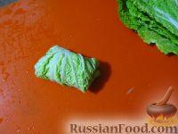 Фото приготовления рецепта: Голубцы из китайской капусты - шаг №4