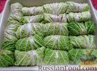 Фото приготовления рецепта: Голубцы из китайской капусты - шаг №5