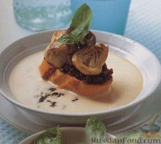 Фото к рецепту: Суп-пюре с гренками