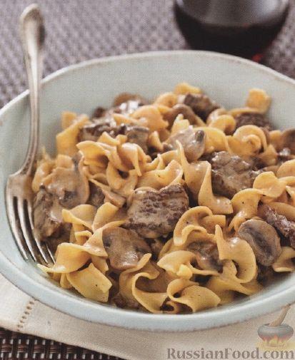 Рецепт блюда из мяса и макарон в духовке