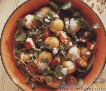 Рецепт Картофельный салат с помидорами