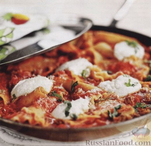 Рецепт Лазанья на сковороде