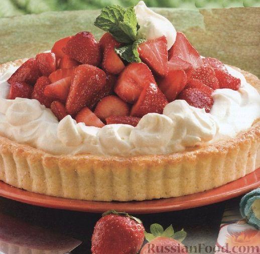 Рецепт Пирог с клубникой и сливками