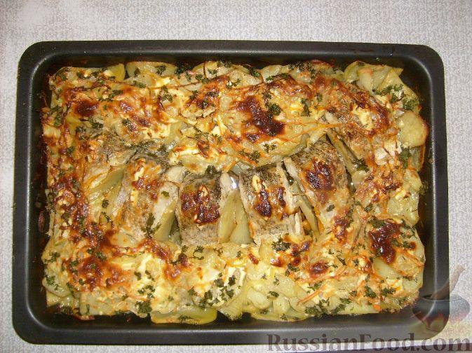 Рецепт Щука, запеченная с картофелем