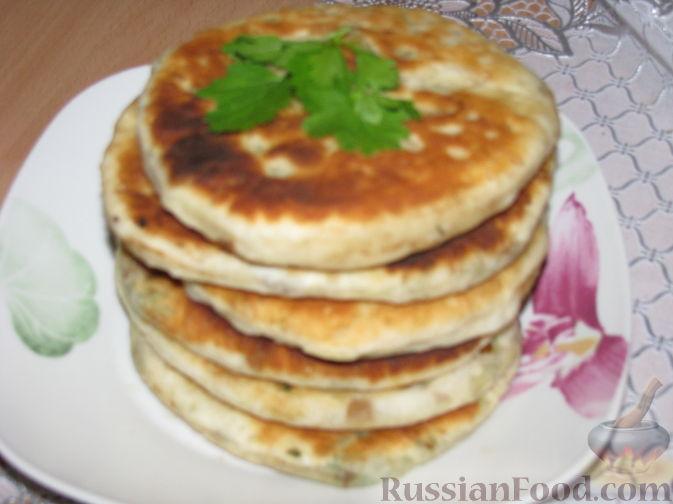 Рецепт Дрожжевые лепёшки с овощами и зеленью