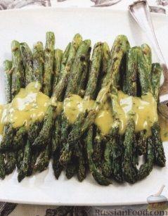 Рецепт Жареная спаржа с горчичным соусом