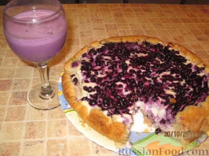 черничный пирог с творогом рецепт с фото