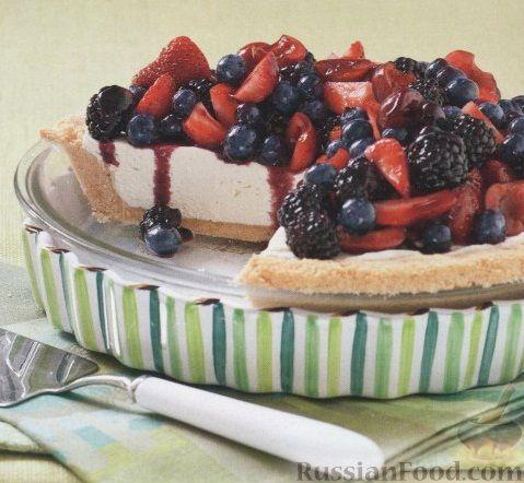 чизкейк с ягодами рецепт