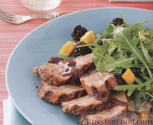 Рецепт Свиное филе с ежевичным соусом