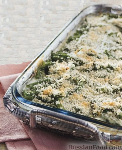 Рецепт Стручковая фасоль, запеченная с сыром