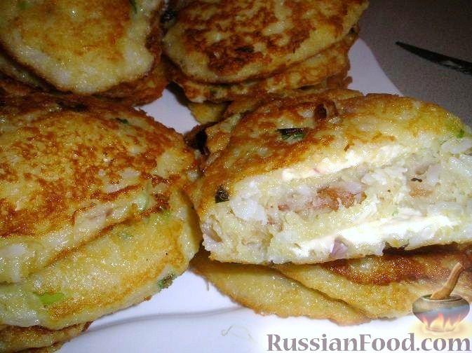 Рецепт Драники рисовые с плавленым сыром