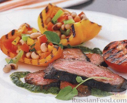 Рецепт Говядина и овощи на гриле