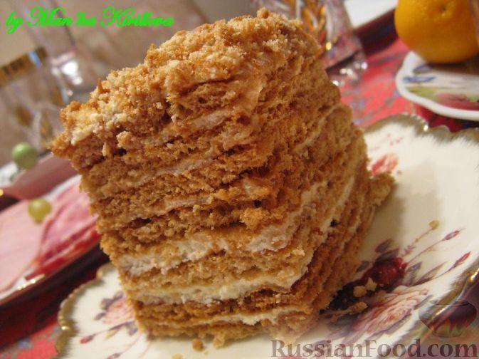 рецепты торт медовик фото