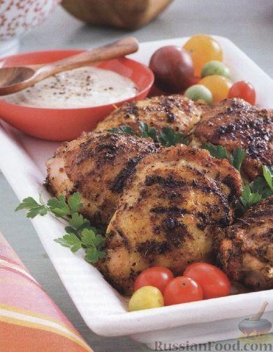 Рецепт Куриные бедрышки, жаренные на гриле