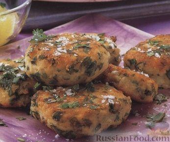 Рецепт Картофельные котлеты с кинзой и сыром