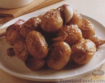 Рецепт Картофель, печеный с чесноком
