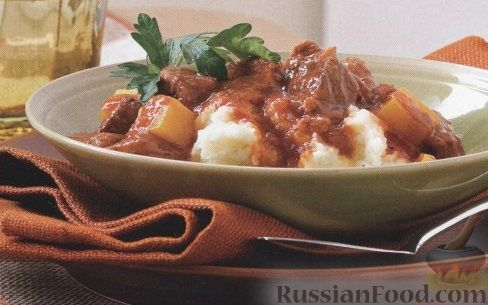 Рецепт Говядина, приготовленная в медленноварке